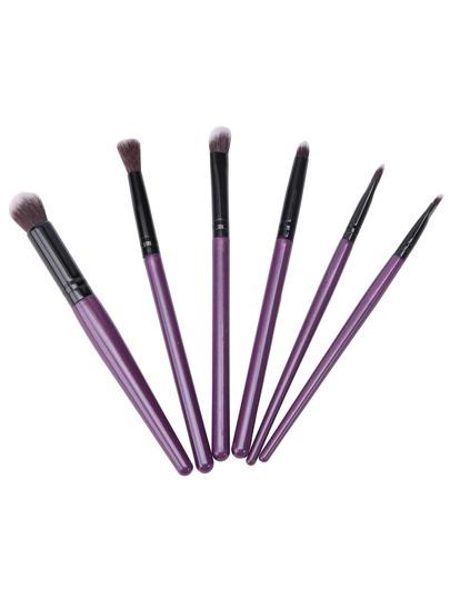 6PCS Purple Professional Makeup Brush Set