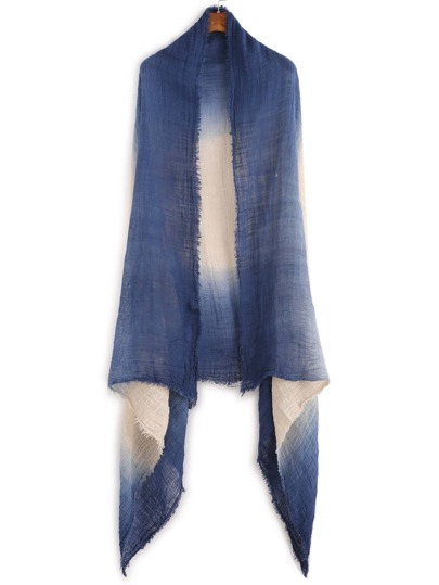 Navy Ombre Raw Edge Scarf
