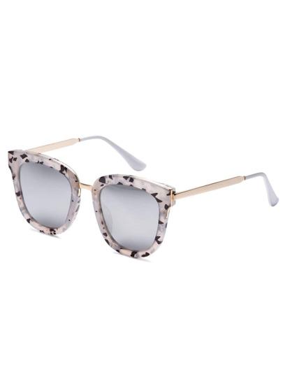Grey Bold Camo Frame Metal Arm Sunglasses