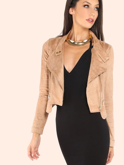 Suede Moto Jacket COCO