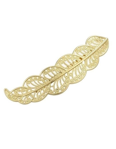 Gold Plated Long Leaf Hair Clip
