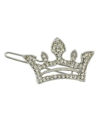 Silver Crown Hair Clip