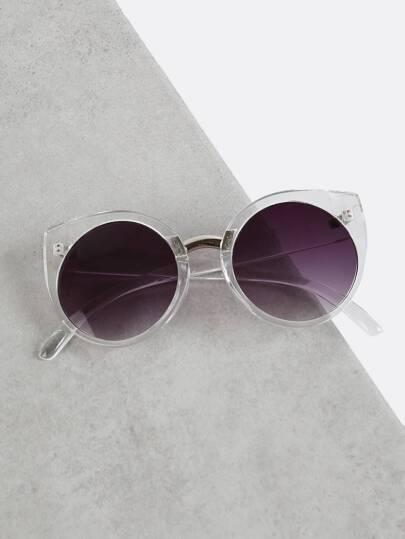 Transparent Cat Eye Sunglasses CLEAR