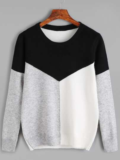Color Black Jersey Sweater