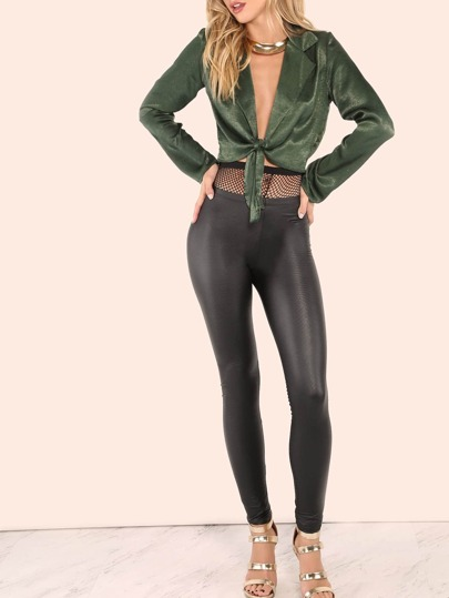 Pleather Leggings BLACK