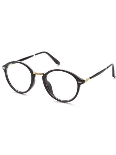 Black Frame Gold Trim Glasses