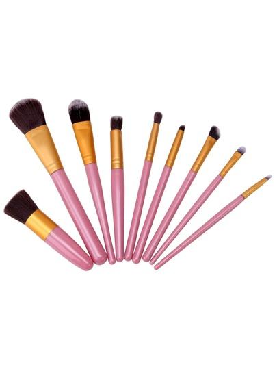 9PCS Pink Professional Makeup Brush Set