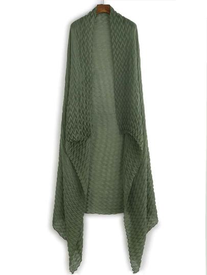 Green Drape Soft Long Scarf
