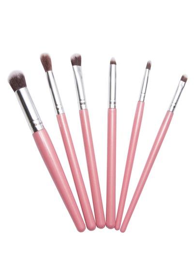 فرشاة مجموعة 6PCS الوردي ماكياج المهنية