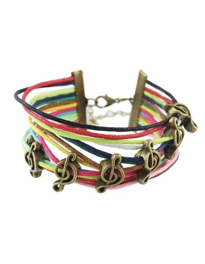 Colorful Braided Rope Link Bracelet