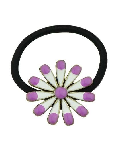 Purple Flower Elastic Hair Rope