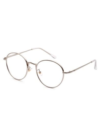 Silver Frame Clear Lens Sunglasses