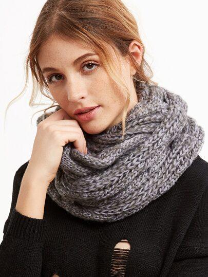 Grey Chunky Knit Scarf