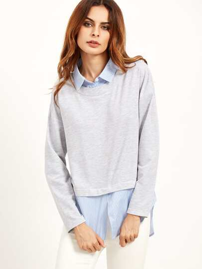 Heather Grey 2 In 1 Sweatshirt