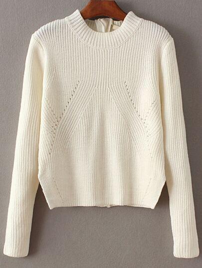 Maglione Convertibile Con Cerniera - Bianco