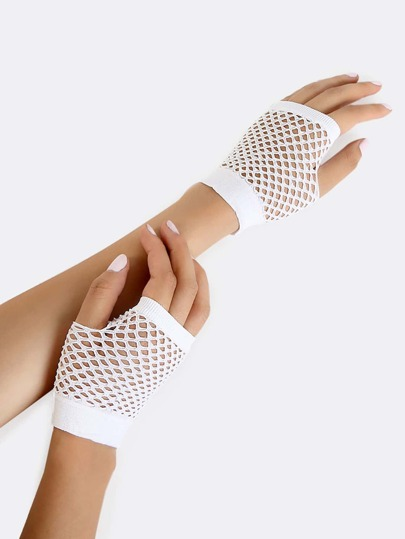 Retro Fishnet Glove WHITE