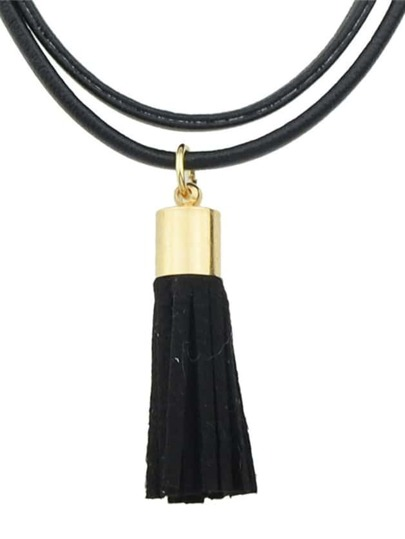 Pu Leather Multilayers Choker Necklace