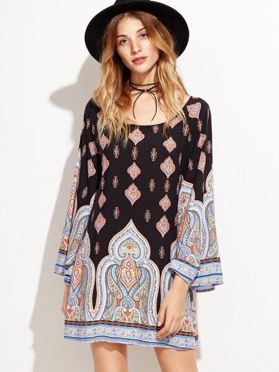 Robe imprimé tribal tunic -multicolore