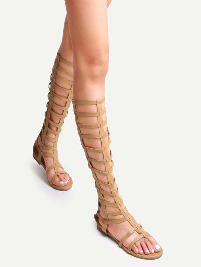 Sandales spartiates bout ouvert tendance