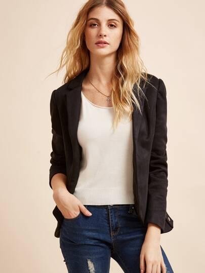 Чёрный модный пиджак