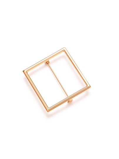 Spilla Traforata Quadrata Placcata - Oro