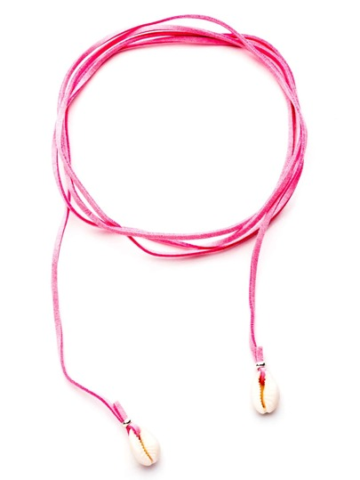 Collier ras-de-cou avec coquille - rose
