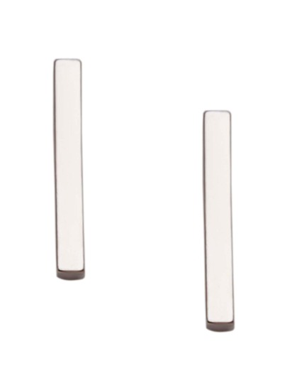 Silver Bar Simple Stud Earrings
