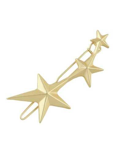 Pinzas de pelo forma de estrella -dorado