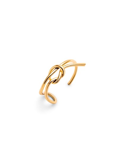 Gold Plated Minimalist Wrap Ring