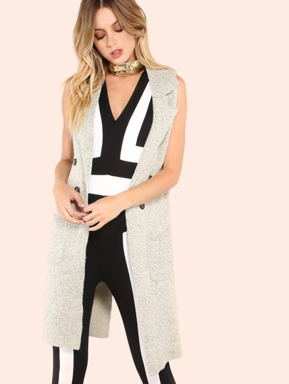 Knitted Vest Coat OATMEAL