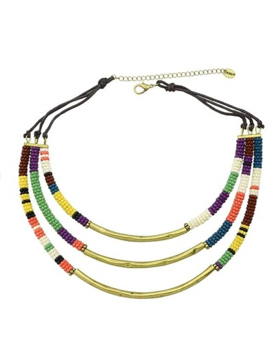 Multilayers Colorful Beads Collar Necklace