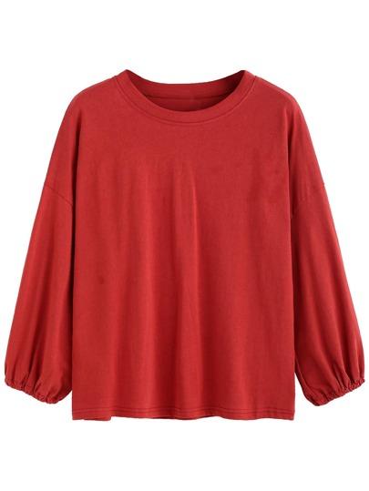 Red Drop Shoulder T-shirt