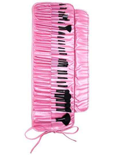 32PCS Pink Professional Makeup Brush Set With Bag