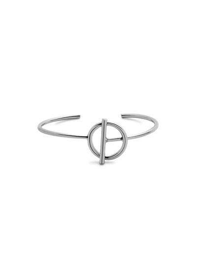 Silver Plated Geometric Minimalist Wrap Bangle