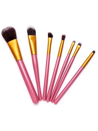 7PCS Pink Professional Makeup Brush Set