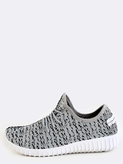 Knit Athletic Sneakers GREY