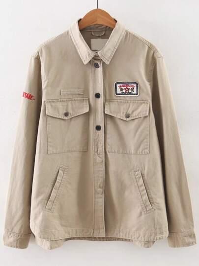 Модная асимметричная куртка с текстовым принтом