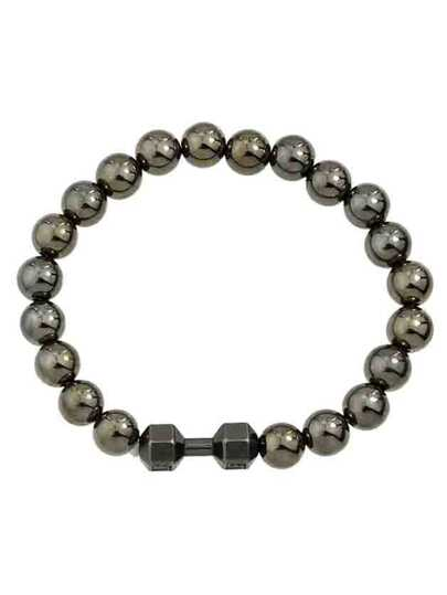 Black Simple Elastic Metal Beads Chain Bracelet For Women