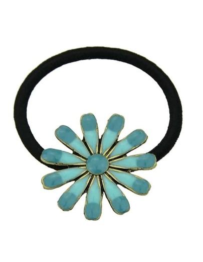 Green Flower Elastic Hair Rope