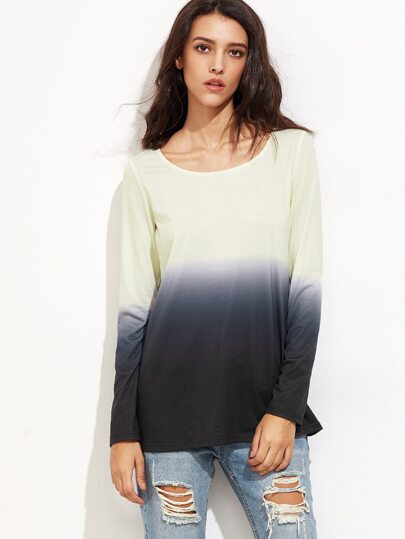 Ombre Long Sleeve T-shirt