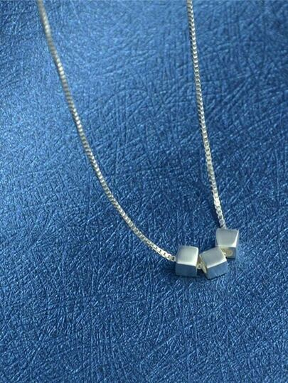 New Design 925 Silver Chain Necklace For Lady