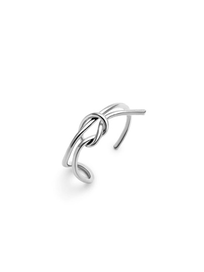Silver Plated Minimalist Wrap Ring