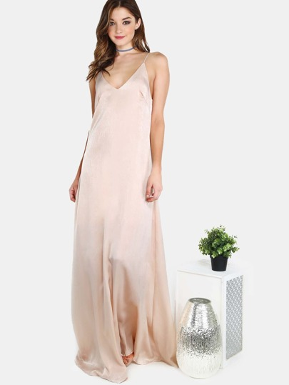 Satin Cami Maxi Dress BLUSH