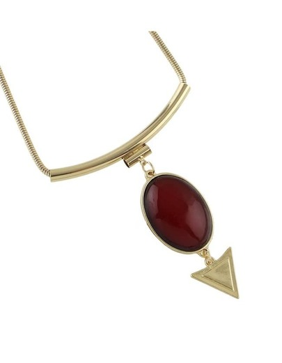 Winered Hanging tone Pendant Necklace