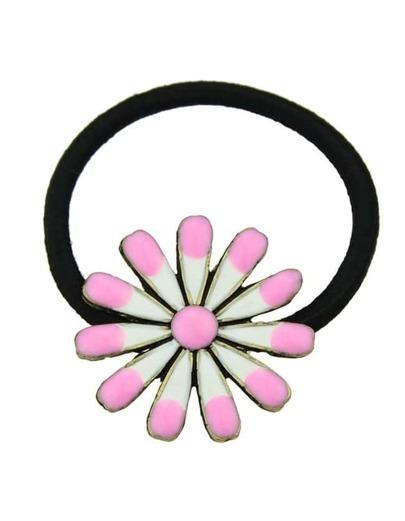 Pink Flower Elastic Hair Rope