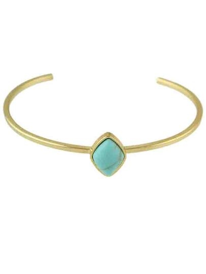 Blue New Design Imitation Turquoise Thin Cuff Bracelet