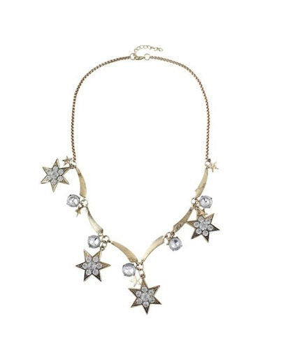 Rhinestone Star Charms Necklace