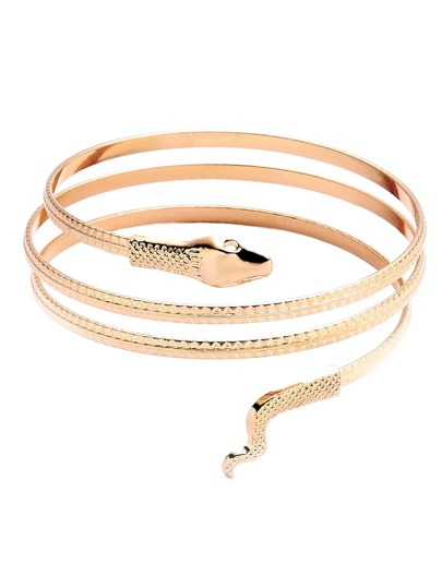 Gold Plated Snake Wrap Bangle