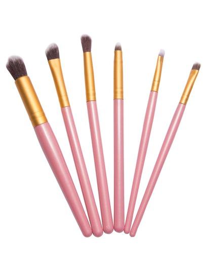 6PCS Pink Professional Makeup Brush Set