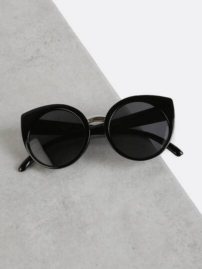 Oversized Cat Eye Sunglasses BLACK
